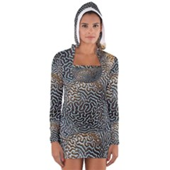 Coral Pattern Women s Long Sleeve Hooded T Shirt