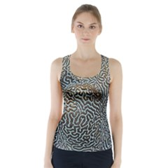 Coral Pattern Racer Back Sports Top