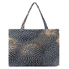Coral Pattern Medium Zipper Tote Bag