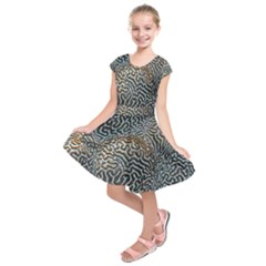 Coral Pattern Kids  Short Sleeve Dress