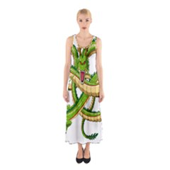 Dragon Snake Sleeveless Maxi Dress