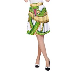 Dragon Snake A-Line Skirt