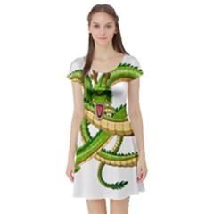 Dragon Snake Short Sleeve Skater Dress