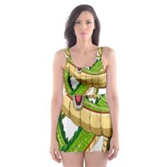 Dragon Snake Skater Dress Swimsuit