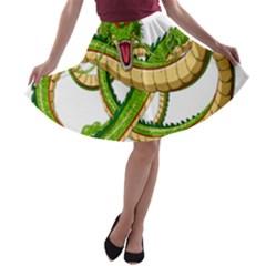 Dragon Snake A-line Skater Skirt