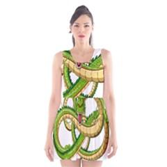 Dragon Snake Scoop Neck Skater Dress