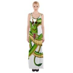 Dragon Snake Maxi Thigh Split Dress