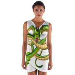 Dragon Snake Wrap Front Bodycon Dress