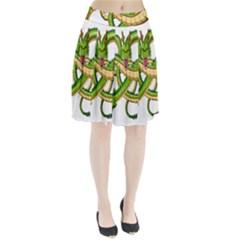 Dragon Snake Pleated Skirt