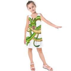 Dragon Snake Kids  Sleeveless Dress