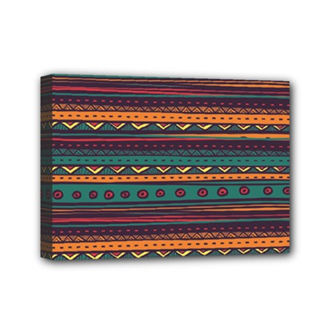 Ethnic Style Tribal Patterns Graphics Vector Mini Canvas 7  X 5