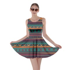Ethnic Style Tribal Patterns Graphics Vector Skater Dress
