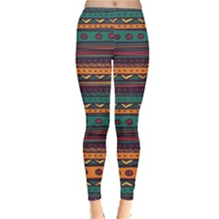 Ethnic Style Tribal Patterns Graphics Vector Leggings