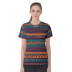 Ethnic Style Tribal Patterns Graphics Vector Women s Cotton Tee