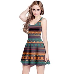 Ethnic Style Tribal Patterns Graphics Vector Reversible Sleeveless Dress
