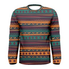 Ethnic Style Tribal Patterns Graphics Vector Men s Long Sleeve Tee