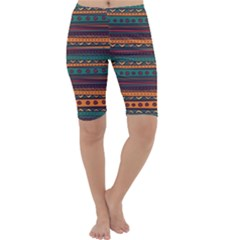Ethnic Style Tribal Patterns Graphics Vector Cropped Leggings