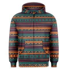 Ethnic Style Tribal Patterns Graphics Vector Men s Zipper Hoodie