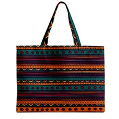Ethnic Style Tribal Patterns Graphics Vector Zipper Mini Tote Bag