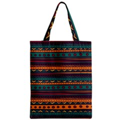 Ethnic Style Tribal Patterns Graphics Vector Zipper Classic Tote Bag