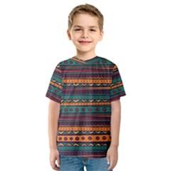 Ethnic Style Tribal Patterns Graphics Vector Kids  Sport Mesh Tee