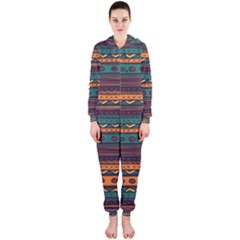 Ethnic Style Tribal Patterns Graphics Vector Hooded Jumpsuit (ladies)