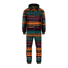 Ethnic Style Tribal Patterns Graphics Vector Hooded Jumpsuit (kids)