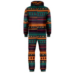 Ethnic Style Tribal Patterns Graphics Vector Hooded Jumpsuit (men)
