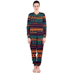 Ethnic Style Tribal Patterns Graphics Vector OnePiece Jumpsuit (Ladies)