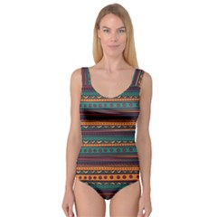 Ethnic Style Tribal Patterns Graphics Vector Princess Tank Leotard
