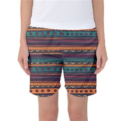 Ethnic Style Tribal Patterns Graphics Vector Women s Basketball Shorts