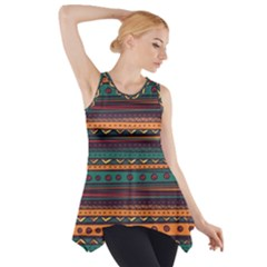 Ethnic Style Tribal Patterns Graphics Vector Side Drop Tank Tunic