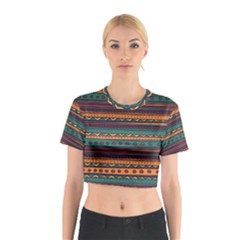 Ethnic Style Tribal Patterns Graphics Vector Cotton Crop Top