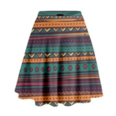 Ethnic Style Tribal Patterns Graphics Vector High Waist Skirt