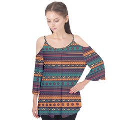 Ethnic Style Tribal Patterns Graphics Vector Flutter Tees