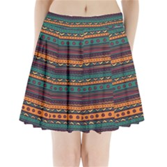 Ethnic Style Tribal Patterns Graphics Vector Pleated Mini Skirt
