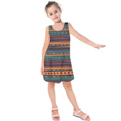 Ethnic Style Tribal Patterns Graphics Vector Kids  Sleeveless Dress