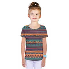Ethnic Style Tribal Patterns Graphics Vector Kids  One Piece Tee