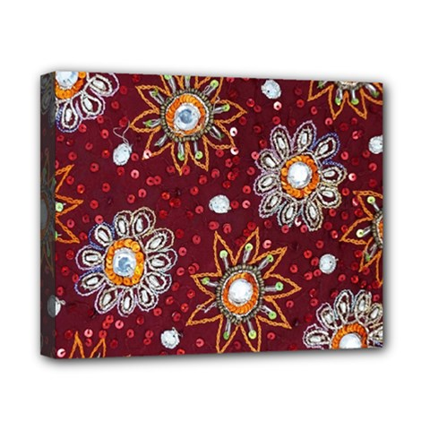 India Traditional Fabric Canvas 10  X 8