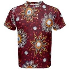 India Traditional Fabric Men s Cotton Tee