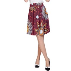 India Traditional Fabric A Line Skirt