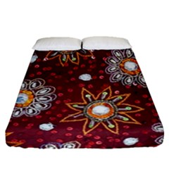 India Traditional Fabric Fitted Sheet (queen Size)
