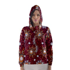 India Traditional Fabric Hooded Wind Breaker (Women)