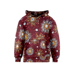 India Traditional Fabric Kids  Pullover Hoodie