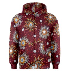 India Traditional Fabric Men s Zipper Hoodie