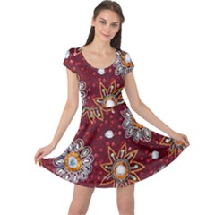 India Traditional Fabric Cap Sleeve Dresses