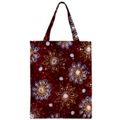 India Traditional Fabric Zipper Classic Tote Bag