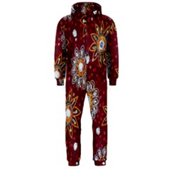 India Traditional Fabric Hooded Jumpsuit (men)