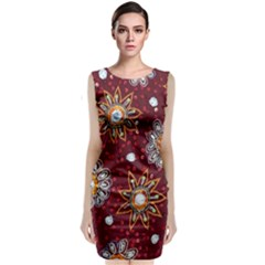 India Traditional Fabric Classic Sleeveless Midi Dress