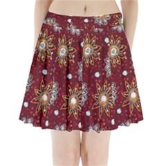 India Traditional Fabric Pleated Mini Skirt